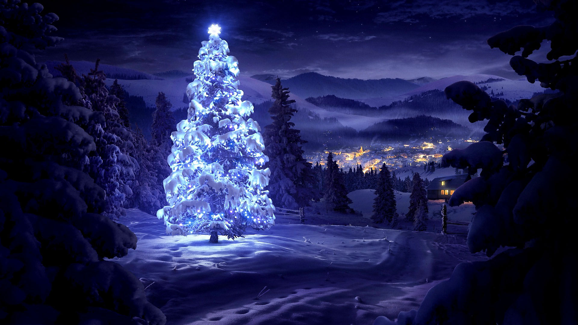 wallpapers noel paysage christmas - photo #10