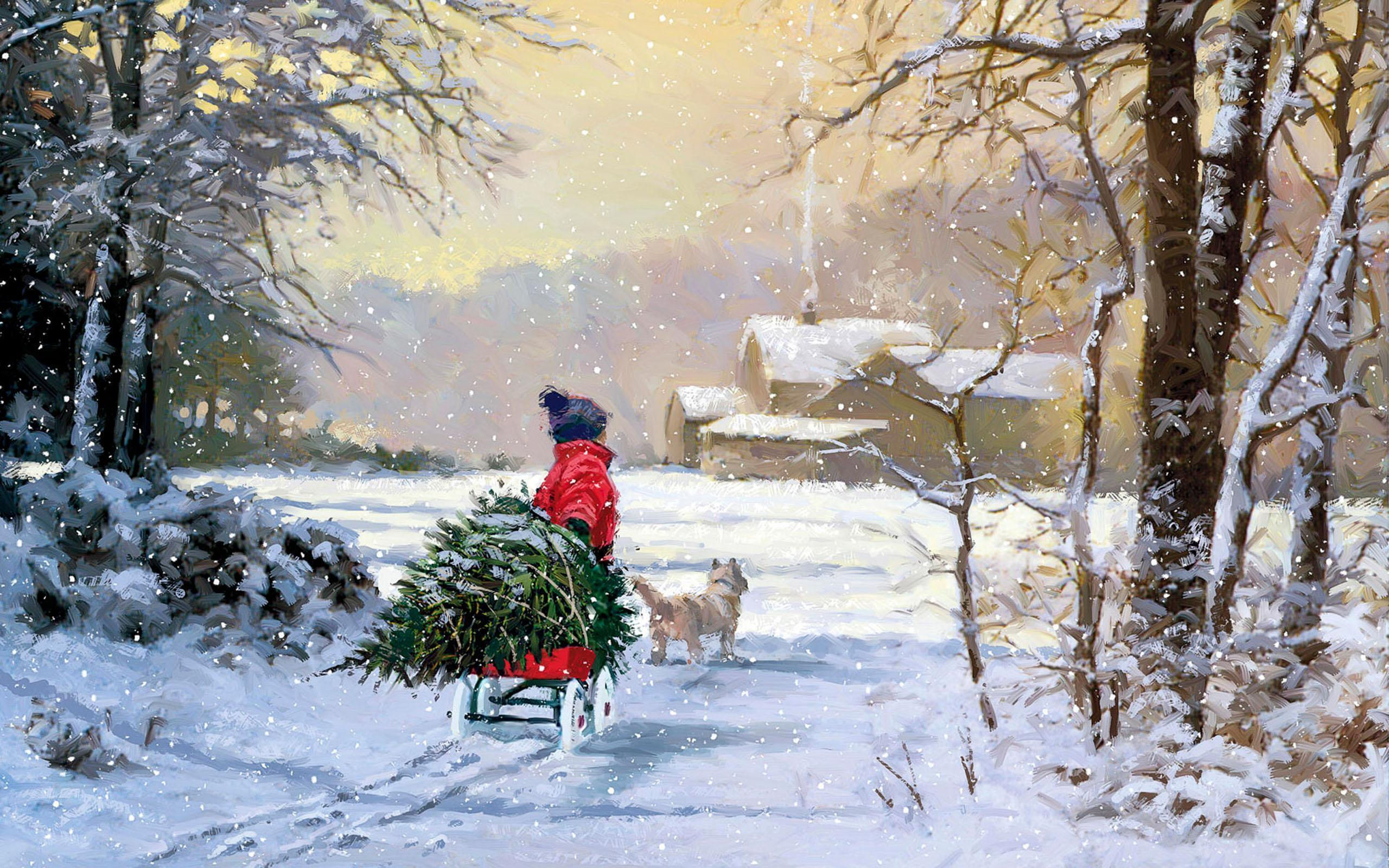 wallpapers noel paysage christmas - photo #37