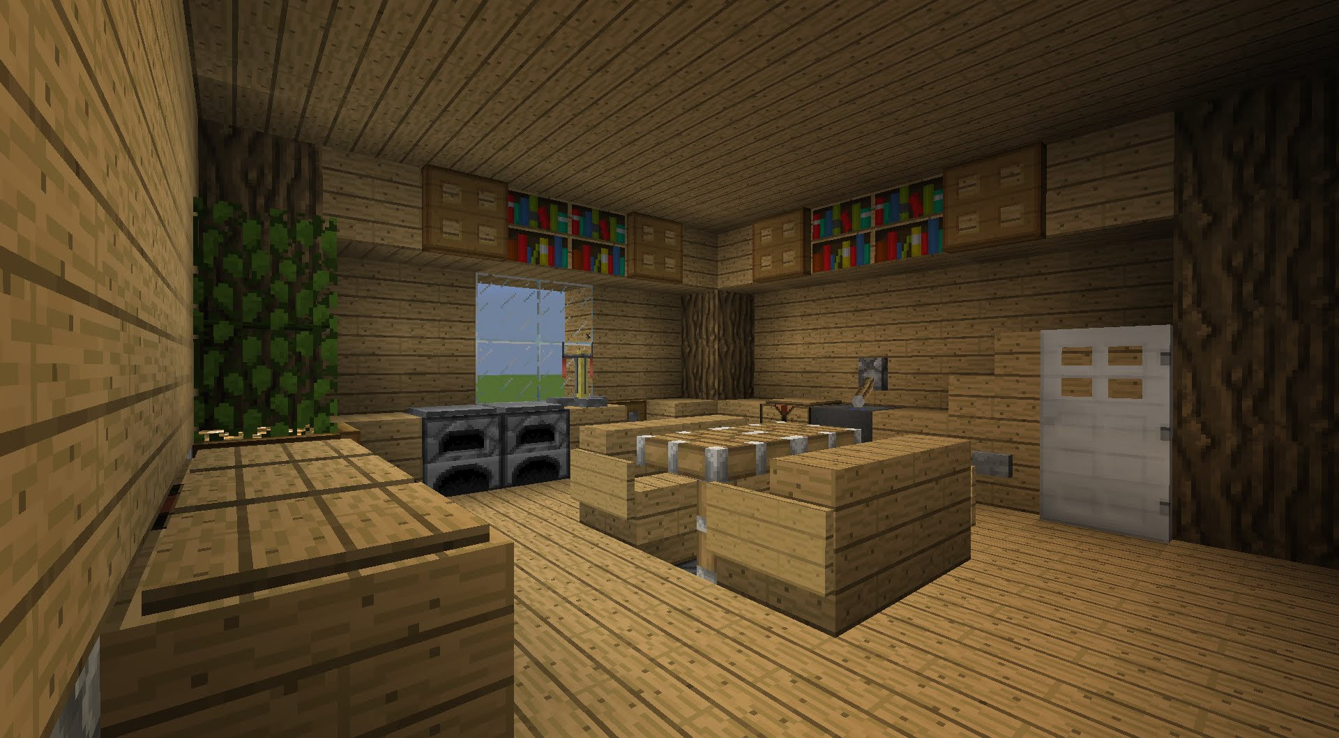 Awesome belle chambre minecraft images for Salle a manger minecraft