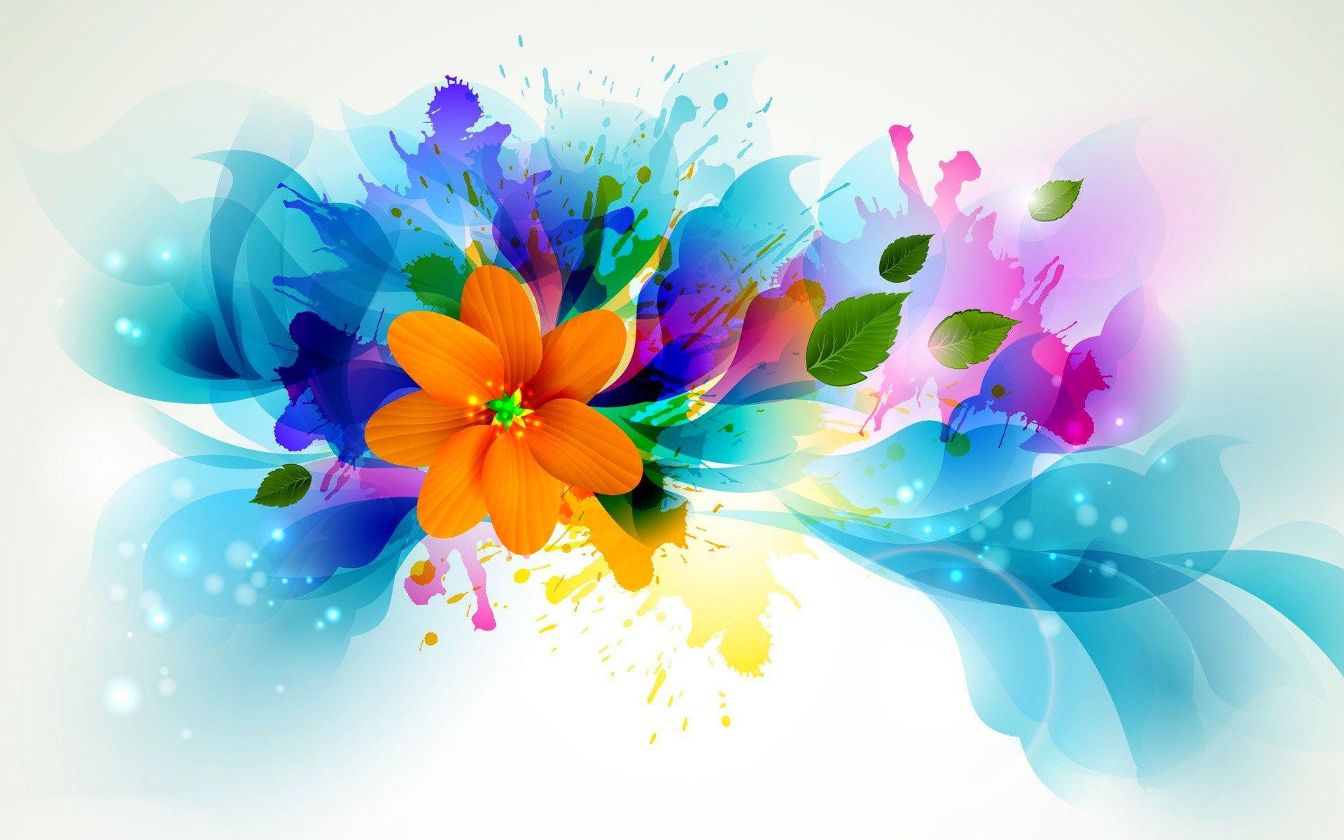 Fonds D Ecran Abstrait Fleur Maximumwallhd